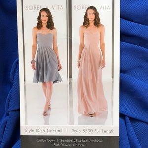 NWT Sorella Vita full length chiffon gown 8530